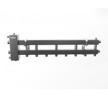 BMSS-100-5D (до 100 кВт, подкл. котла G 1¼″, 4+1 контура G 1″, матовая полировка)