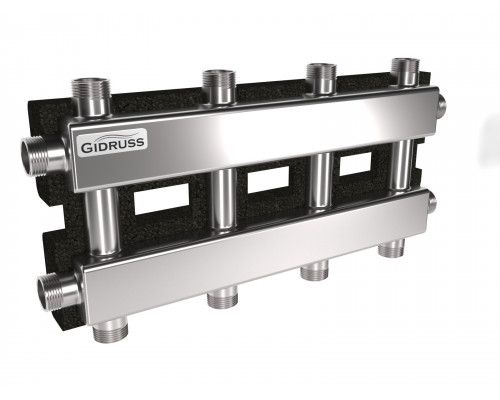 MKSS-60-5DU.EPP (до 60 кВт, магистраль G 1″, 2+2+1 контура G 1″, EPP-термоизоляция, кронштейны K.UF)